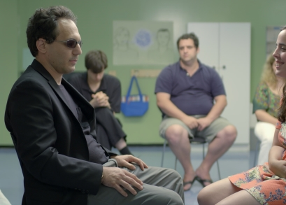 Samantha Elisofon, Nicky Gottlieb, and Brandon Polansky in a scene from <i>Keep the Change</i>, courtesy Kino Lorber